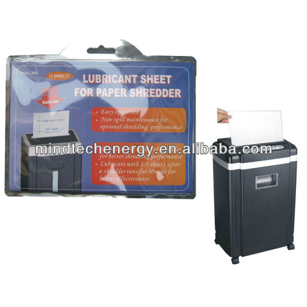 shredder oilpaper lubricant sheet