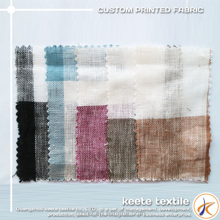 Textiles & Leather Products hot selling 100%Linen Breathable Linen Fabric