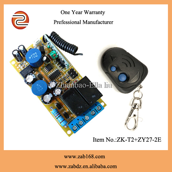 2 relay Long range wireless radio frequency mini transmitter receiver(ZK-T2+ ZY27-2E)
