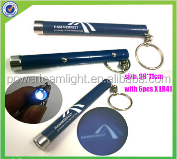 logo projection led keychain light for promotion CY-035 project your logo
