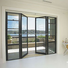 Enery efficient china best sell social projects exterior aluminum doors of french style and swing hinged doors
