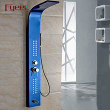 Fyeer hot sale rain shower column commercial bathroom stainless steel wall panels