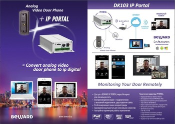 Analog video door phone to IP Converter