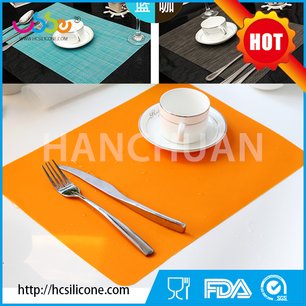 Personalized coloring kids heat resistant high quality custom silicone table mat