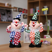 custom plush walking clown stuffed toy with voice inside