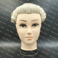 Good quality Blond Grey Lawyer Wig Judge Hairpieces Court Hair Replacement Horse Hair System Hand Weaved Toupee H024