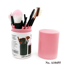 A10455 High Quality Personalized Pink Brand beauty supplies Synthetic Travelling Makeup brush set