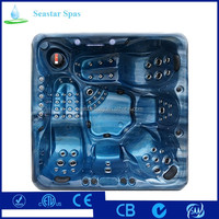 2 Lounge Acrylic Balboa Whirlpool Massage Function Hot Tub Spa With Special Feet Massage and Shoulder Massage