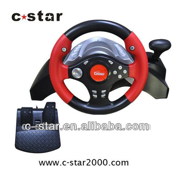 hot selling 4-in-1 racing car steering wheel for game