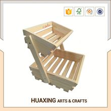 High quality big outdoor wooden fruit basket rack with many usage