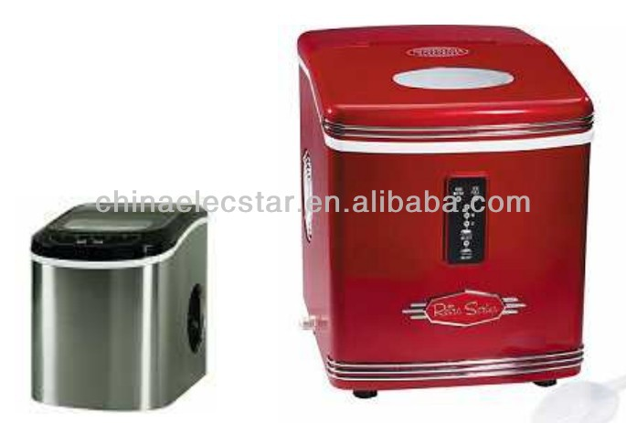12kg/15kg capacity countertop portable cube retro ice maker /small home,with CE/UL certificate, ice maker/mini ice machine