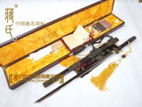 Famous Monoply Store Chinese Longquan Sword Tang Dynasty Embony Black Folded Steel Sword Made by No. 1 Sword manufactuer CC0901