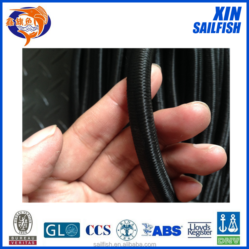 good quality black Rubber Elastic Rope with low price