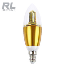 silver led candle light 3W B15 CE& RoHS approved warm white