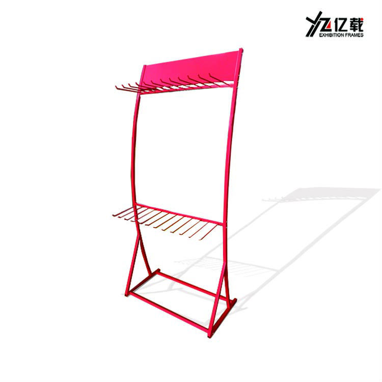 Custom retail shop metal car accessories display stand/metal frame floor display stand/auto wiper display rack