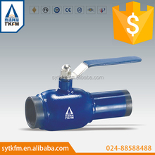 lever operated fully welded type threaded ball valve