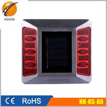 Aluminum led solar cat eyes road stud