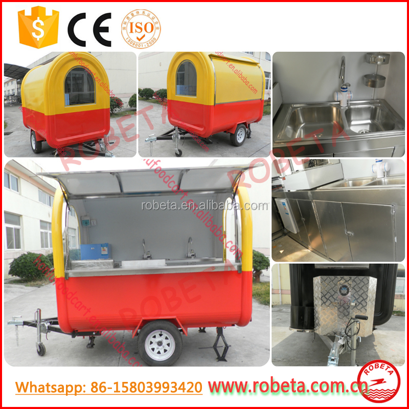 top selling products high quality food vending trailer/car for fast food