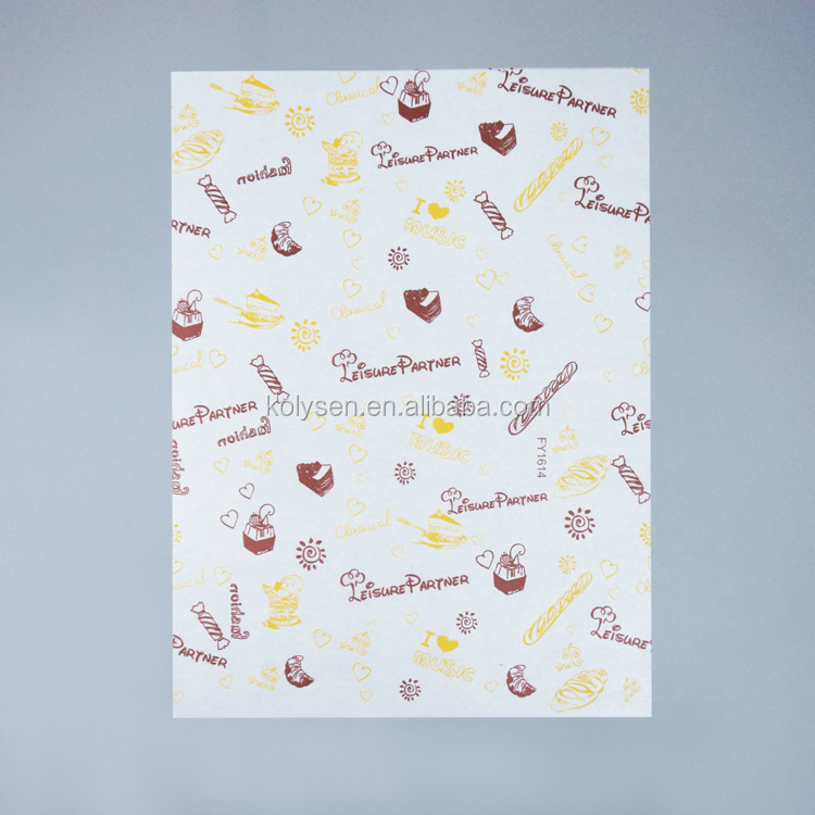 Custom printed Burger wax grease proof paper sheet