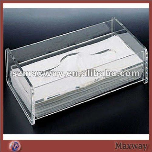 Clear rectangle acrylic napkin/tissue box/holder