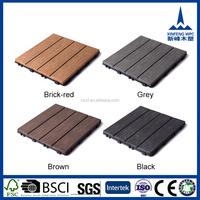 Non-slip durable outdoor interlocking red vinyl floor tiles