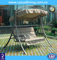 Modern Outdoor Swing Chair With Collodion Cotton Cushion