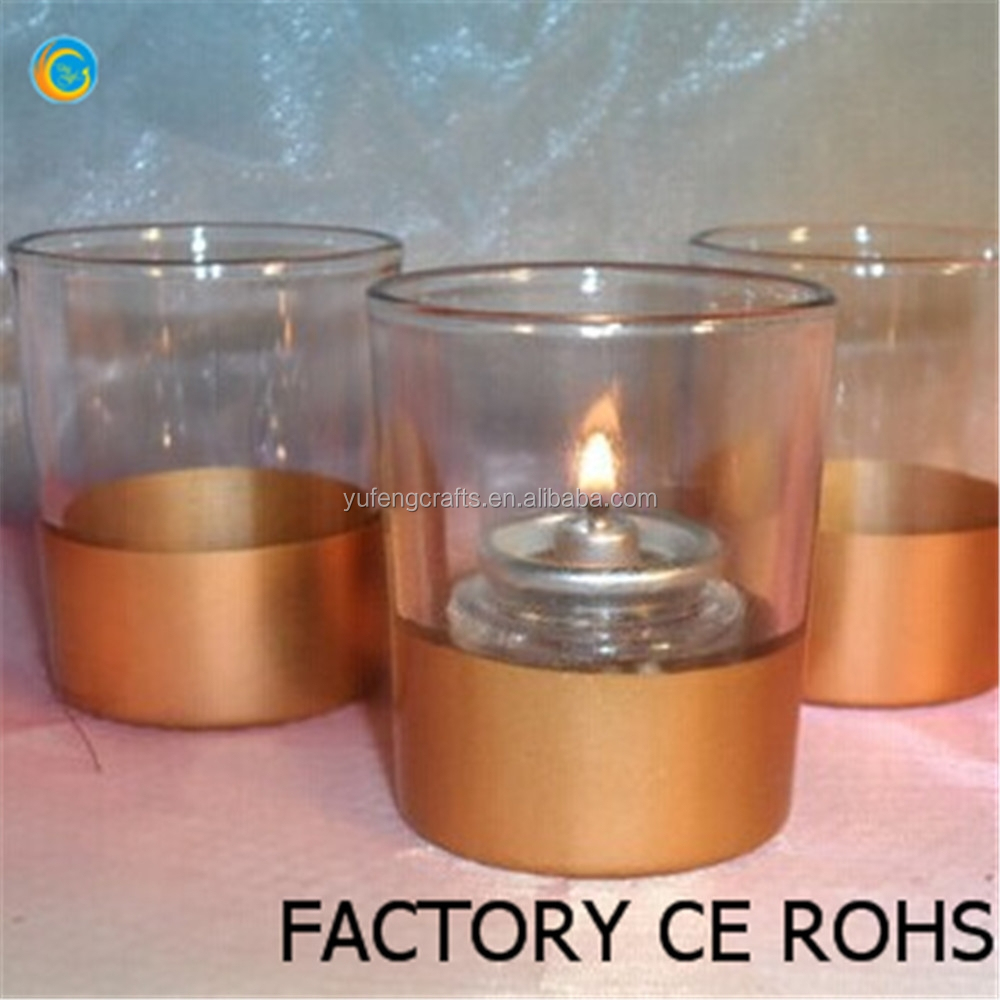 Gold dipped Votive Candle Holder for Weddings 100% product quality protection