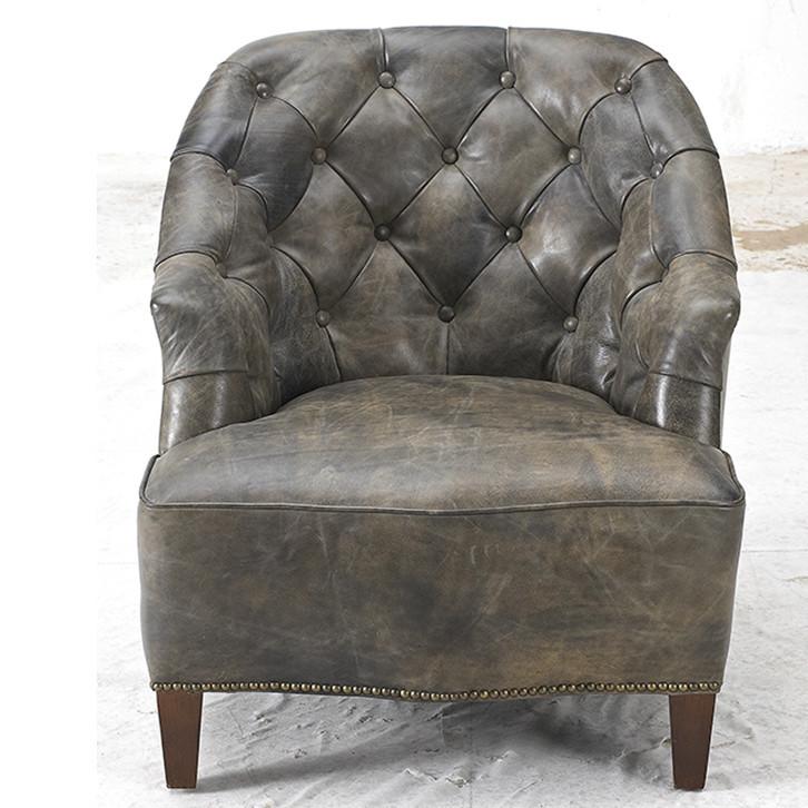 Handmade Hotel Studded Leather Armchair Vintage Style ...