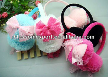 Hot sale new design baby fur earmuffs