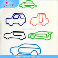 Eco-Friendly Factory Produced Unique Fancy Car Shape Paper Clips In Tin Box