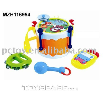 Baby musical toys plastic drum play set