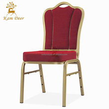 Fashion Top Quality Cheap Stackable Aluminum Cushion Stacking Hotel Chair