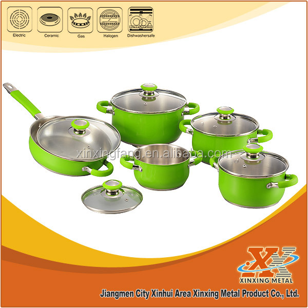 10pcs cookware set stainless steel cookware