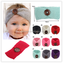 Newest baby crochet headband headwraps set children knitted headbands for hair accessories kids headwear