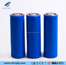 Headway rechargeable li ion NMC li-ion 17500 3.7v 1100mah battery cell for textile machine