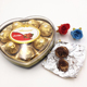 Delicious 8 Pieces Heart Shape Box Golden Sweet Chocolate candy