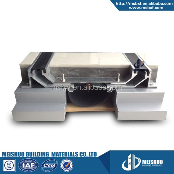 concrete horizontal rubber anti-seismic galvanized steel expansion joint
