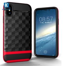[KAYOH] New Design Accuflex Brush Phone Accessories Mobile Case 2 in 1 Rugged Armor Case For iPhone X