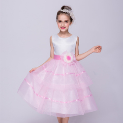 Latest western design new model elegant prom dress kids party frocks girls wear