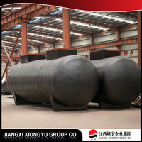 large capacity ethanol storage tank with conical bottom end for sale
