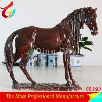 Attractive Lifelike Fiberglass Racing Horse