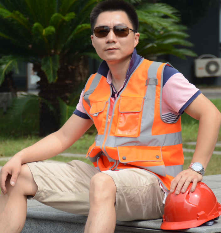 high visibility wholesale EN20471 reflective free printing logo safety vest