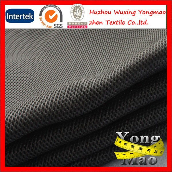polyester breathable sandwich/car seat upholstery fabric