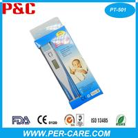 handheld manual digital pen type thermometer with sensor and probe for family use and hospital