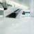 non slip White polished porcelain floor tiles