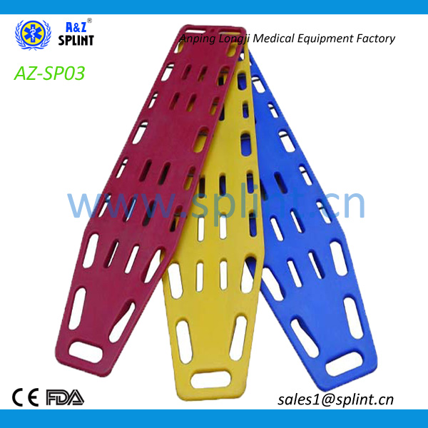 Ambulance rescue plastic floating spine board