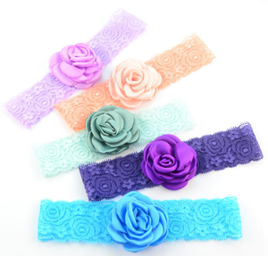 18 colors in stock pom pom chiffon fabric flower, soft ribbon silk hair flower feather accessories, clothing collar ball style