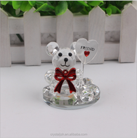 Nice Crystal Bear Figurines Baby Shower Favor Wedding Party Gifts For Guests