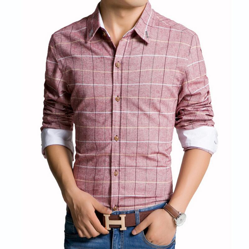 Cheap Mens Purple Plaid Shirt, find Mens Purple Plaid Shirt deals ...