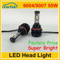 Automotive 50w 10000lm 9004/9007 led headlight led car headlight kit